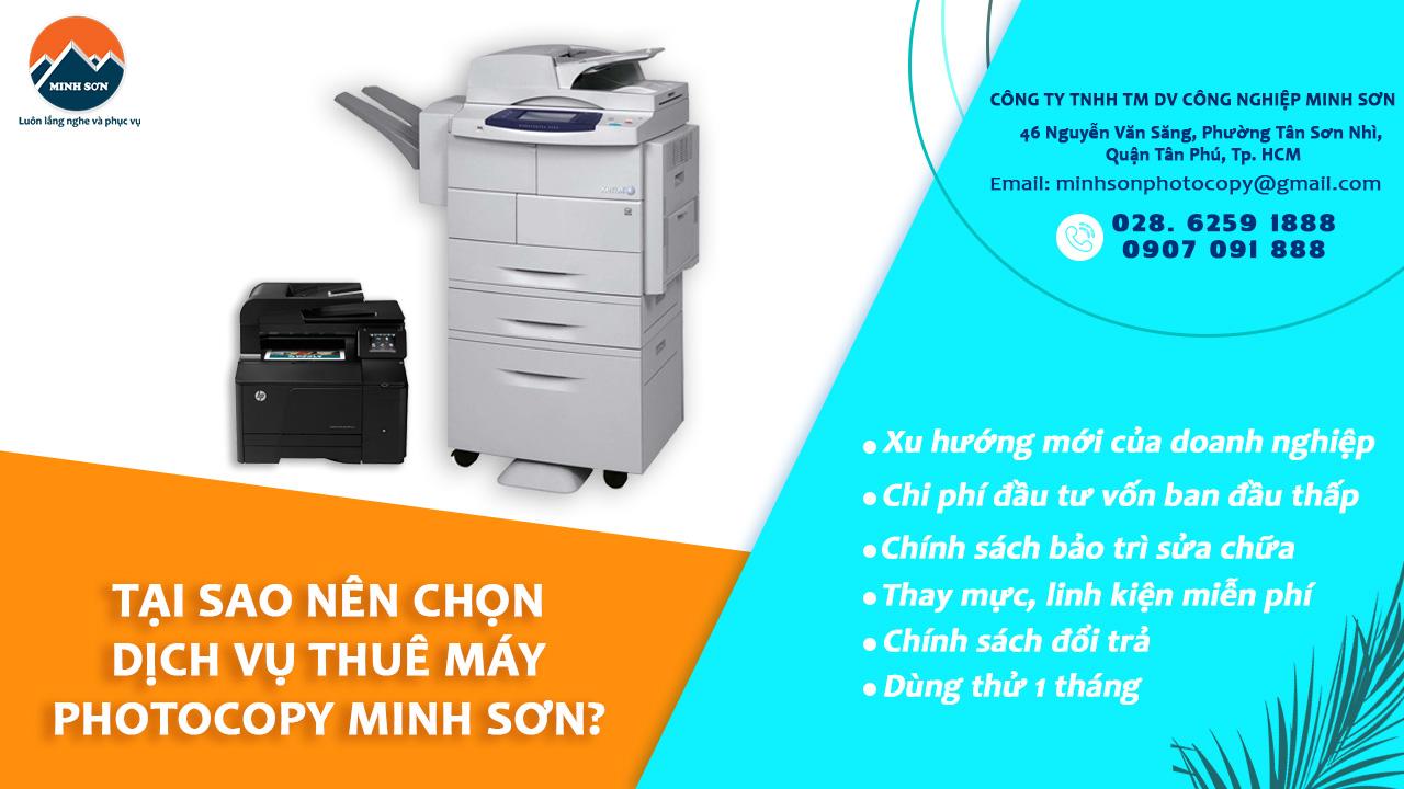 lợi ích chọn dịch vụ thuê máy photocopy