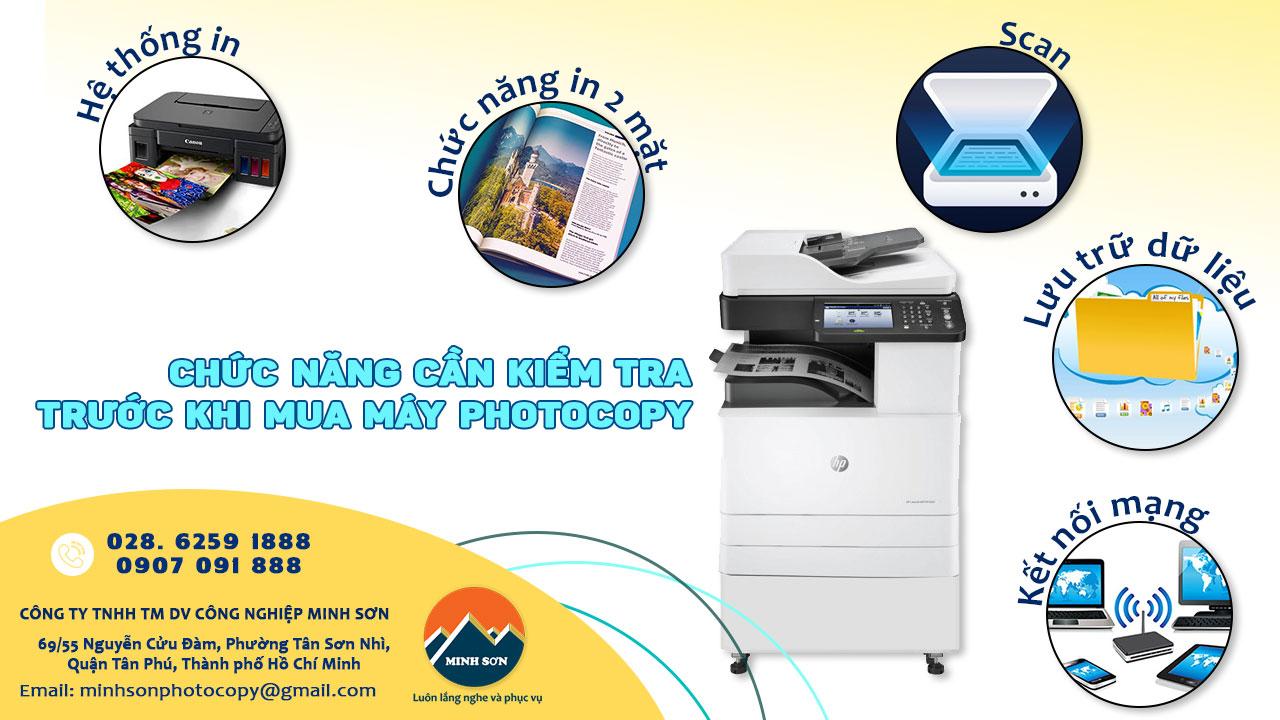 kiểm tra chức năng trước khi mua máy photocopy